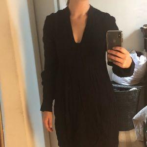 Diane von furstenberg navy long sleeve dress 4 S